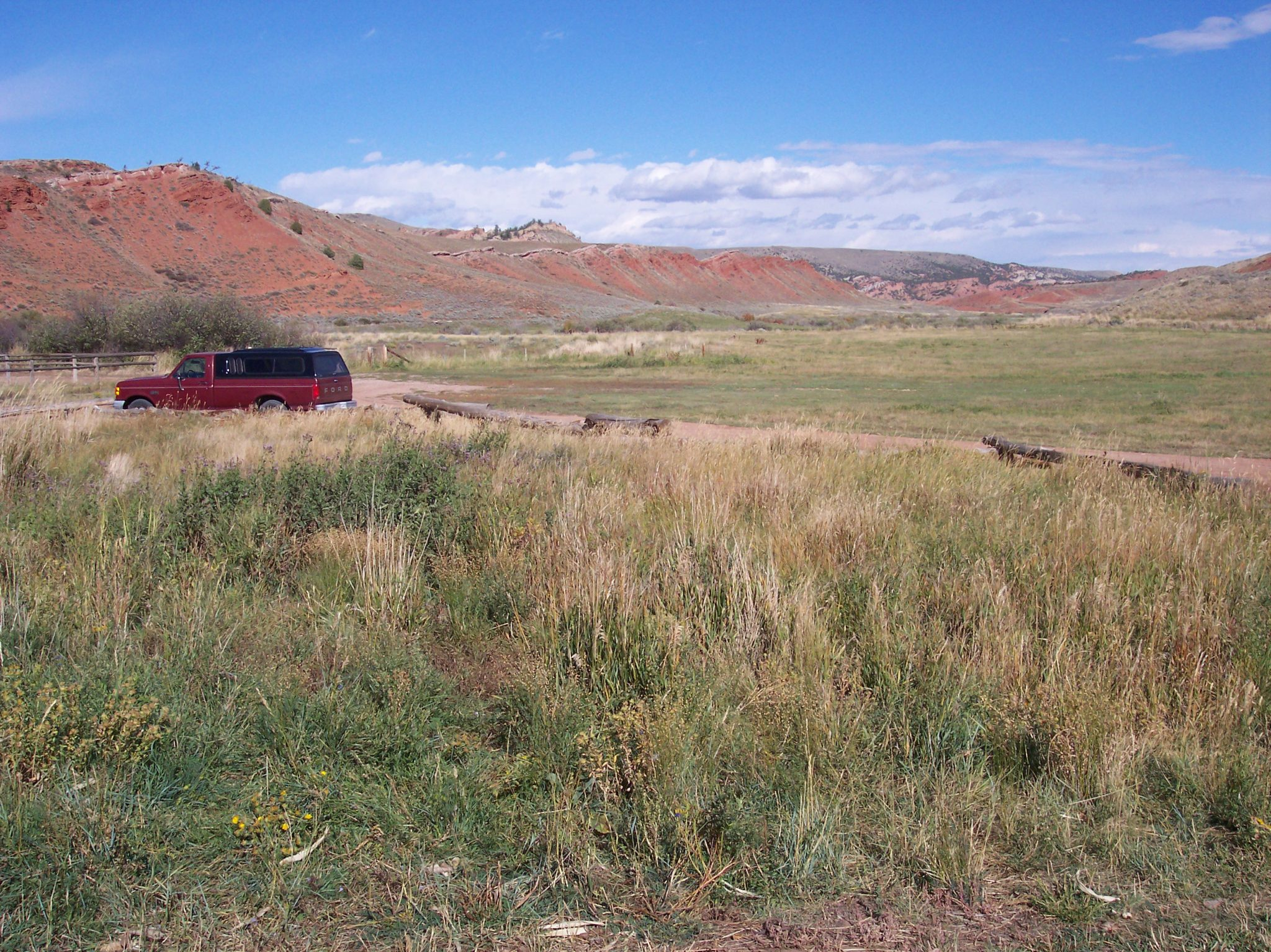 July 2002 visit to Twin Creek Ranch near Lander Wyoming. Sun Prairie was first conceived here.